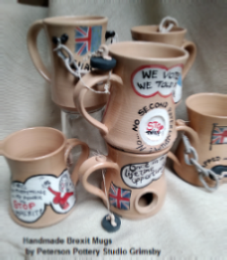 Brexit Mugs for all by Peterson Pottery Studio Grimsby