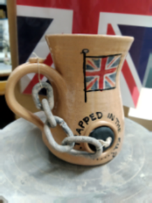Brexit mugs handmade by Peterson Pottery Studio Grimsby